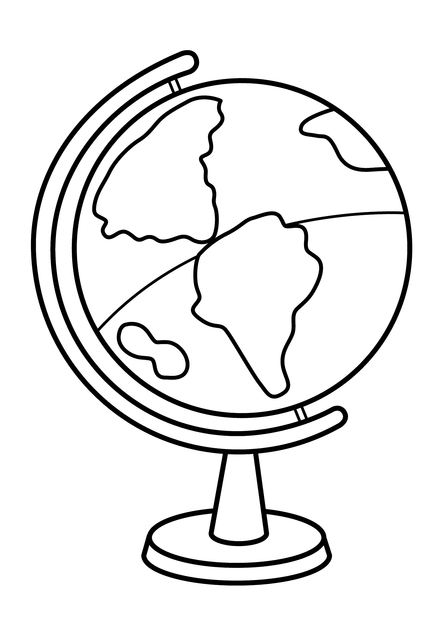 1483x2079 Coloring Pages Globe High Quality Loving Printable
