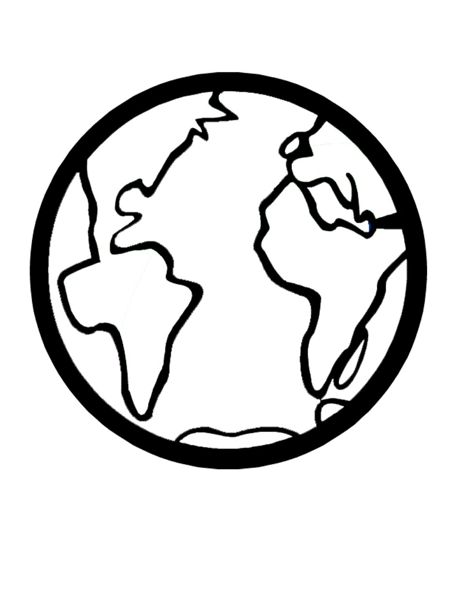 950x1266 Earth Coloring Page