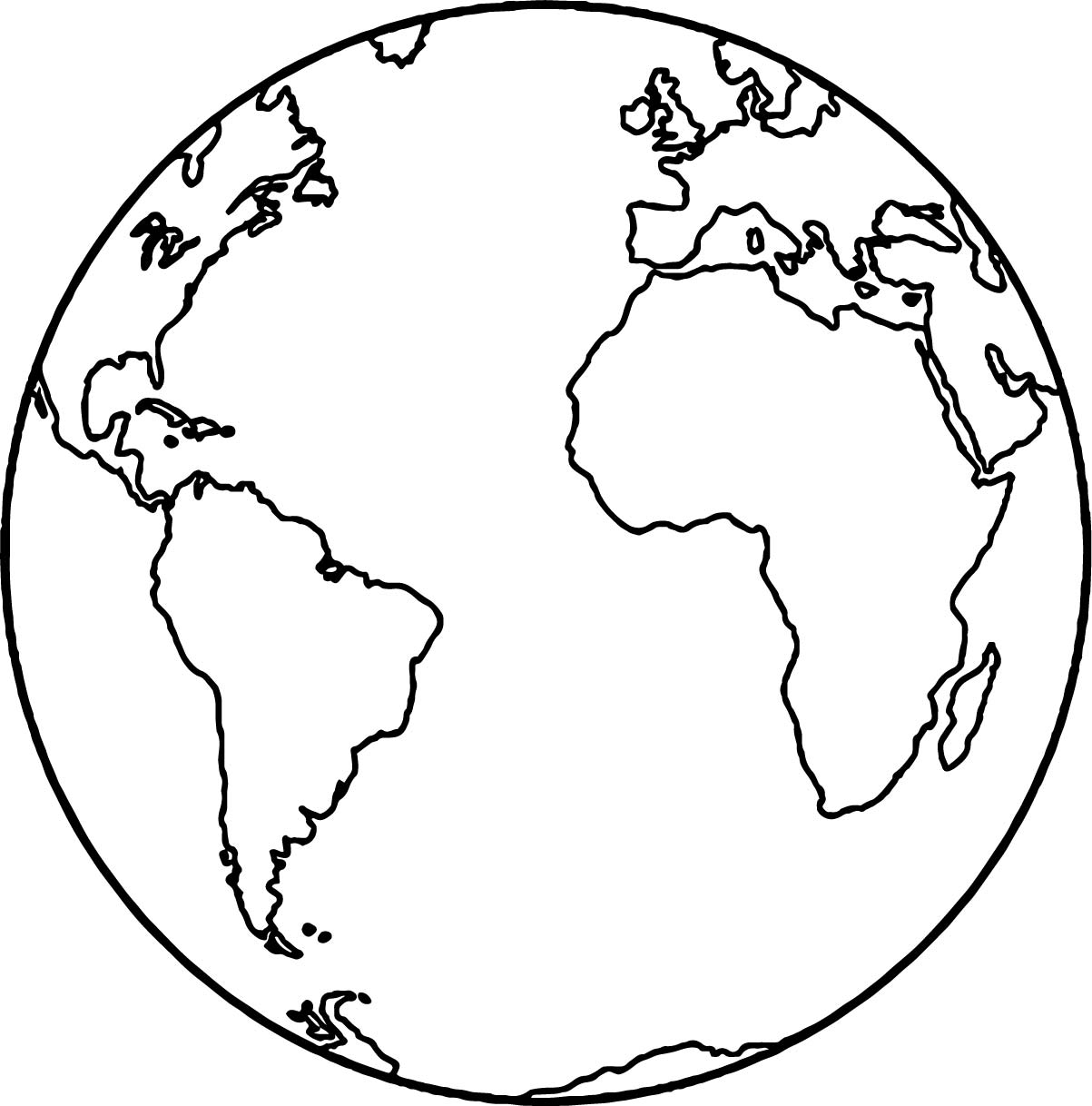 1203x1218 Earth Globe Coloring Page Wecoloringpage