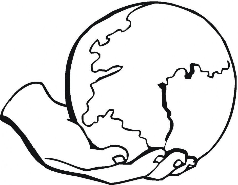Globe Coloring Page Free download best Globe Coloring Page on