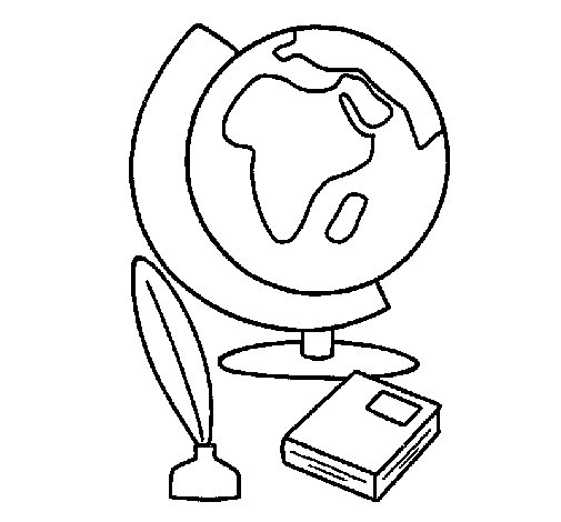 505x470 Globe Coloring Page
