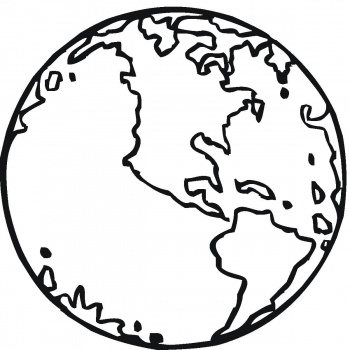 350x350 Globe Coloring Pages 7 Clipart Panda