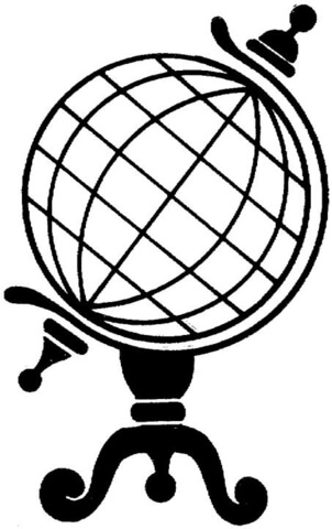 302x480 Standing Globe Coloring Page Free Printable Coloring Pages