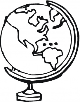 274x349 Globe%20coloring%20page Color My World