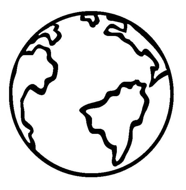 600x612 Coloring Page Earth Earth Globe Coloring Page Crayon Action Pages