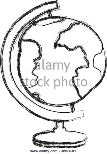 373x540 Drawn Globe Small