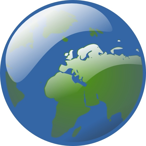 600x600 Earth Globe Clip Art Free Vector In Open Office Drawing Svg ( Svg