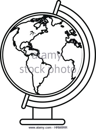 401x540 Line Drawing World Map Stock Vector Images