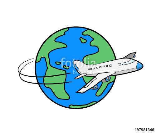 500x425 Travel Around The World, A Hand Drawn Vector Illustration
