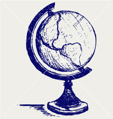380x400 Globe Drawing This Is Really Good For A School Project! Art