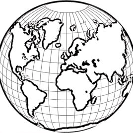 268x268 Coloring Page World Globe Kids Drawing And Coloring Pages