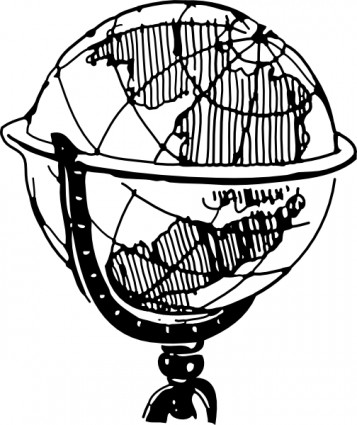 357x425 Globe Clipart Black And White Clipart Panda
