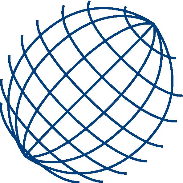 594x595 Big Blue Wire Globe Clip Art