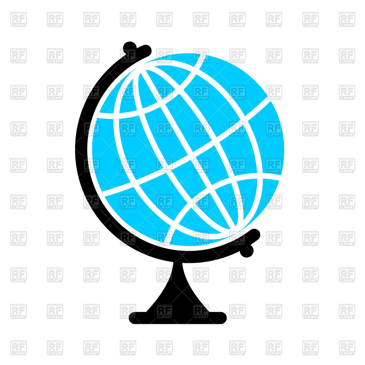 1200x1200 Icon Of Globe, Earth Ball Royalty Free Vector Clip Art Image