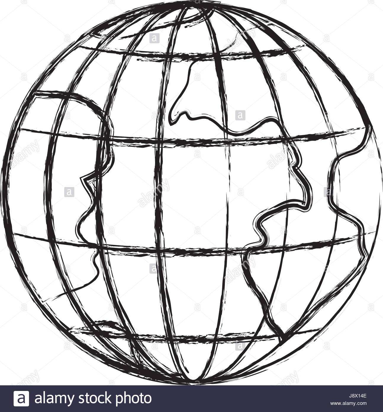1294x1390 Monochrome Blurred Silhouette Of Earth Globe With Meridians