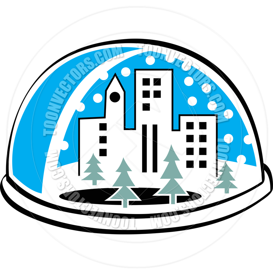 940x940 Cartoon Snow Globe Vector Illustration By Clip Art Guy Toon