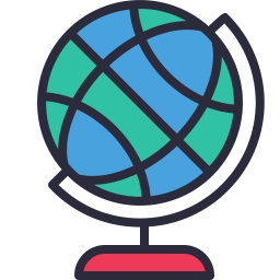 256x256 Globe Icon Outline Filled