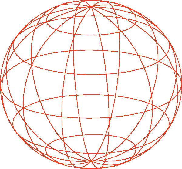 600x557 Globe Outline Clip Art