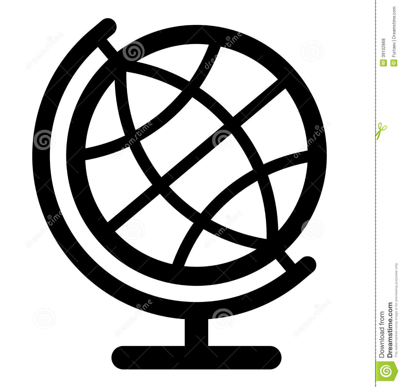 1351x1300 Globe Outline Clipart