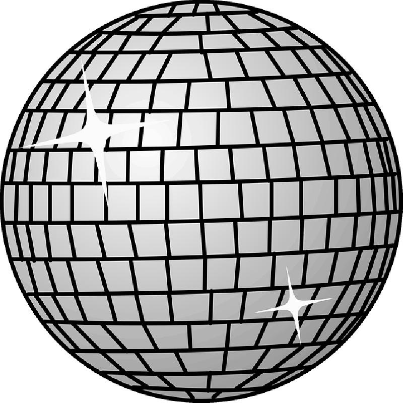 800x800 Black, Disco, Dance, Icon, Outline, Globe, Symbol
