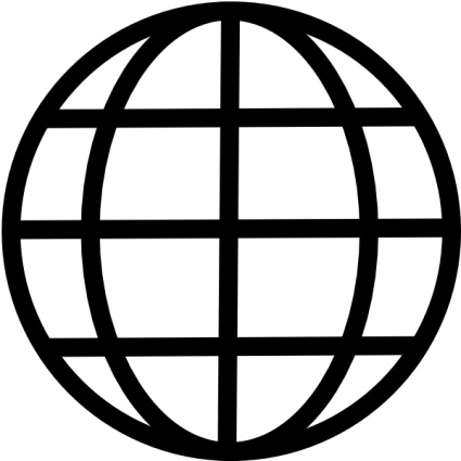 425x425 Globe Black And White Free World Globe Clipart Black And White