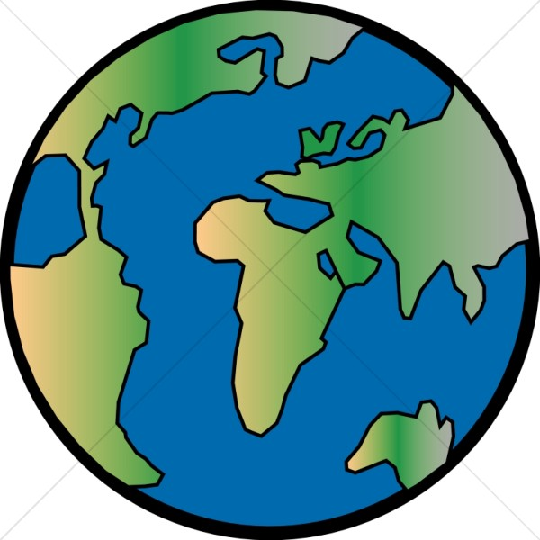 600x600 Gradient Globe With Black Outline Peace Clipart