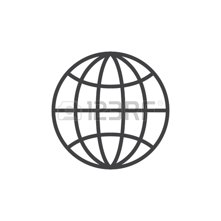 450x450 Icons For Globe Outline Icon