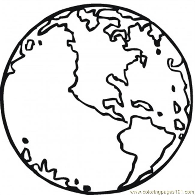 650x650 Planet Earth Clipart Outline
