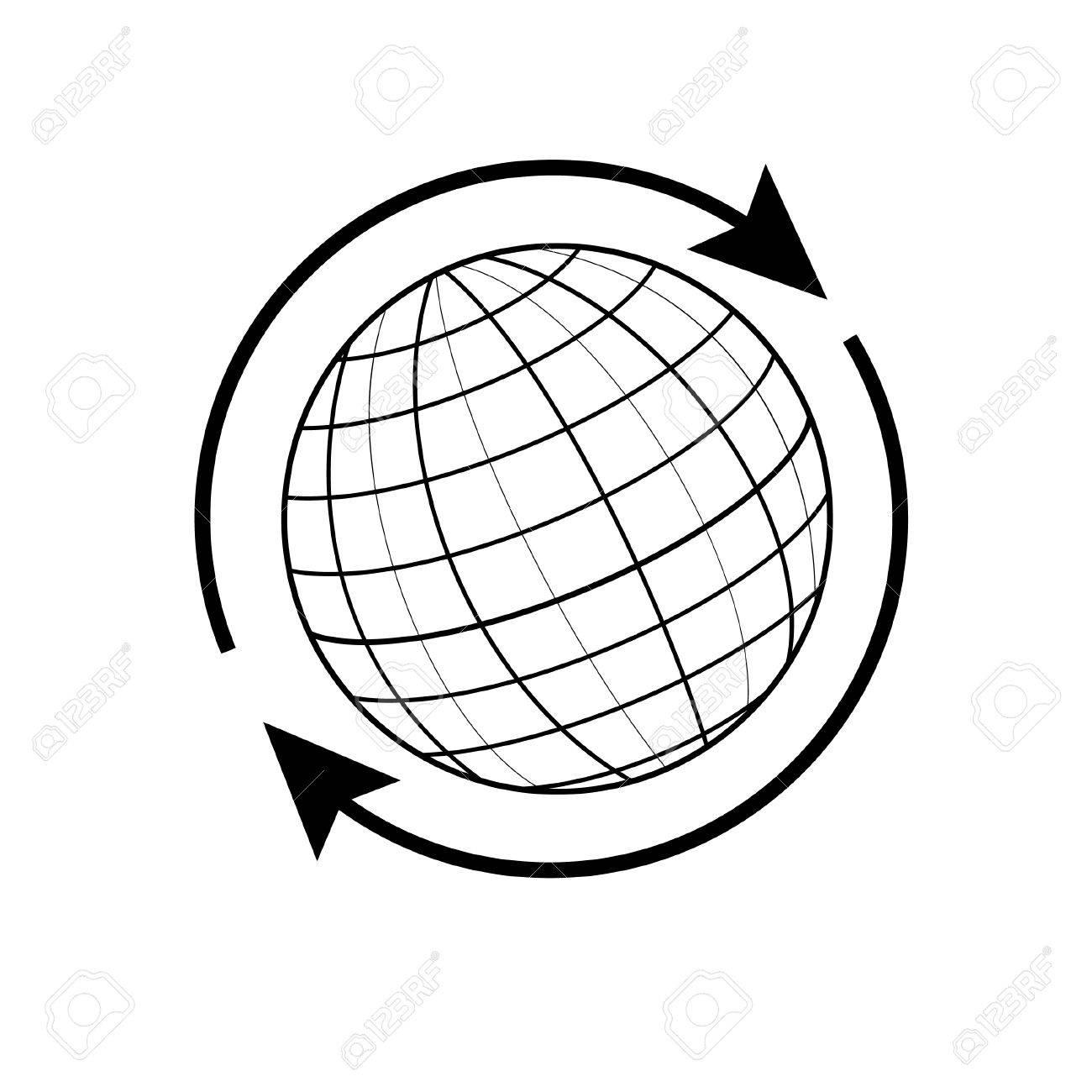 1300x1300 World Globe Outline Clip Art