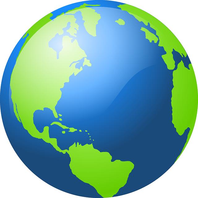 640x640 Globe North America Outline Clipart