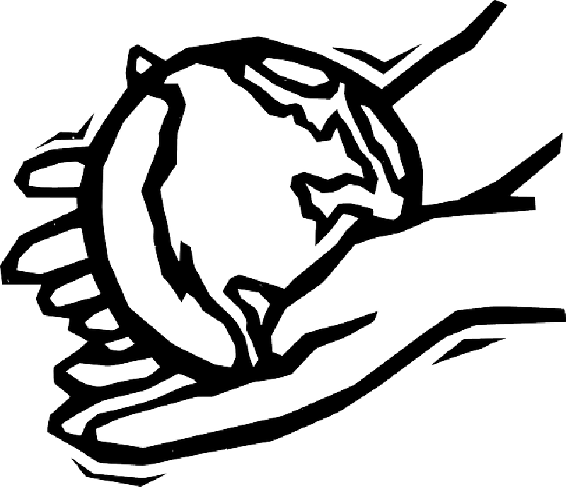 800x688 Black, Two, Outline, Globe, World, Earth, Hand, Drawing