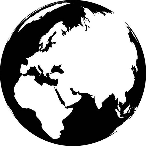 570x570 Globe Map Svg Globe Map Vector Globe Map Silhouette
