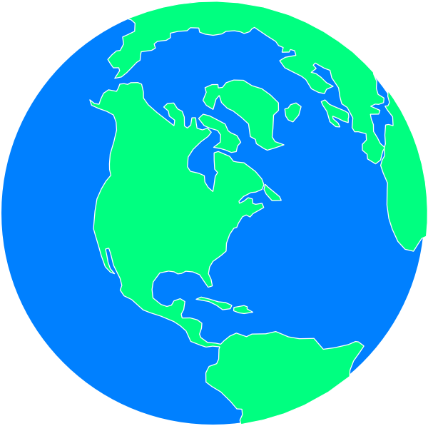 600x597 Flat Cartoon Globe Clip Art