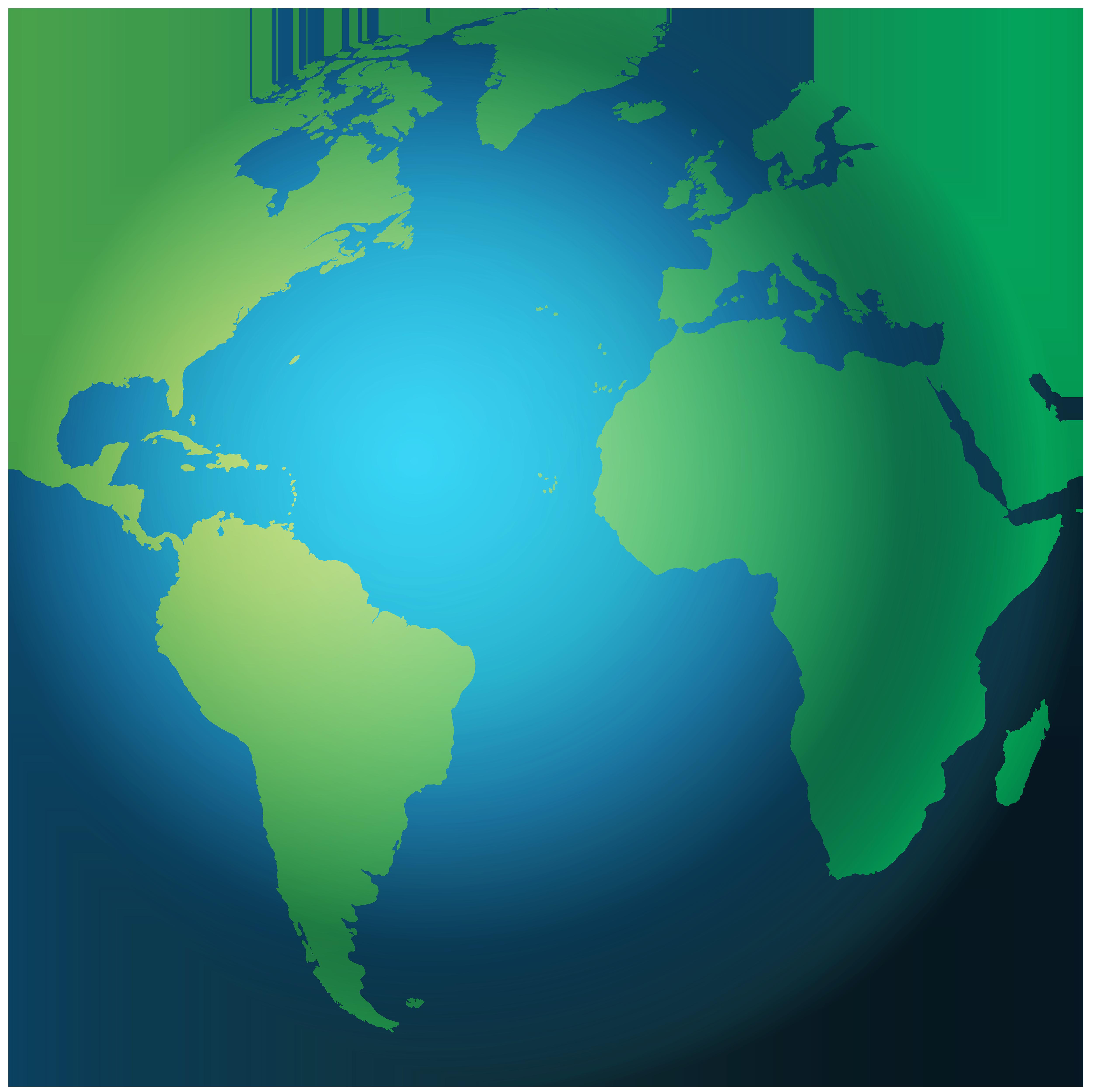5000x4994 Globe Clipart Web