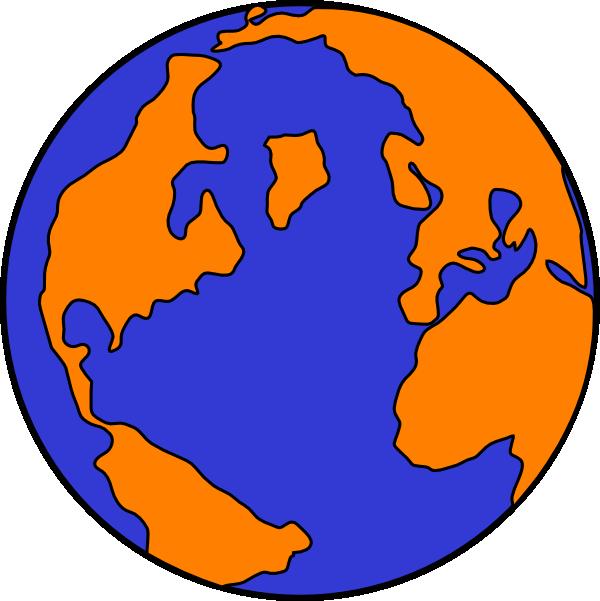 600x601 Orange And Blue Globe Png, Svg Clip Art For Web
