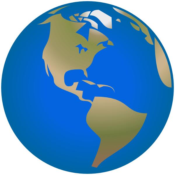 600x600 Globe America Simple