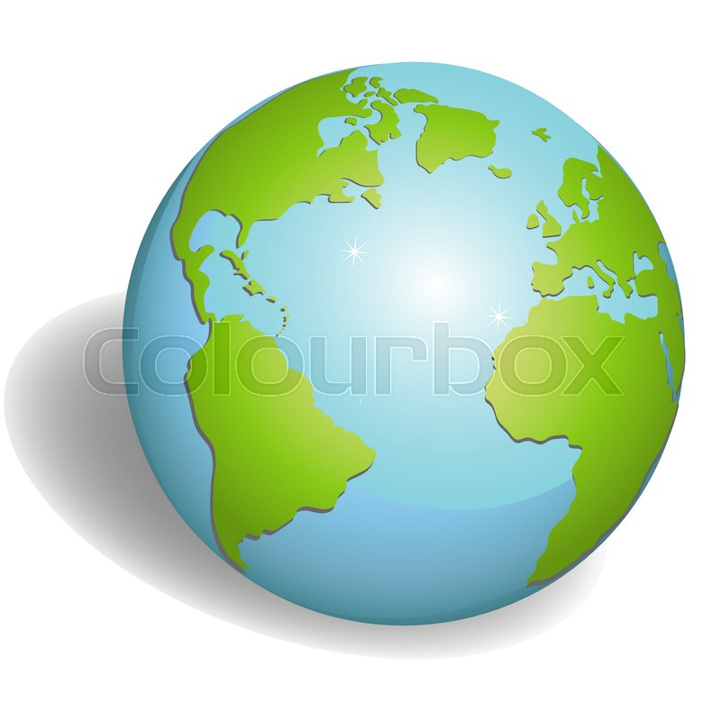 800x800 Earth Globes Isolated On White Background. Flat Planet Earth Icon