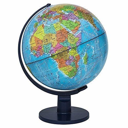 500x500 Globes 36023 Illuminated World Globe W Stand Desktop Light