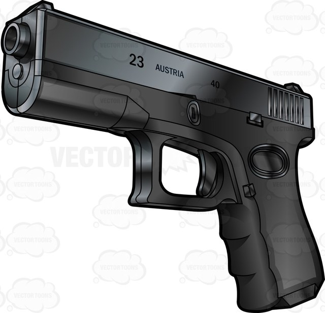 640x617 Font Side View Of A Glock Semi Automatic Short Recoil Pistol