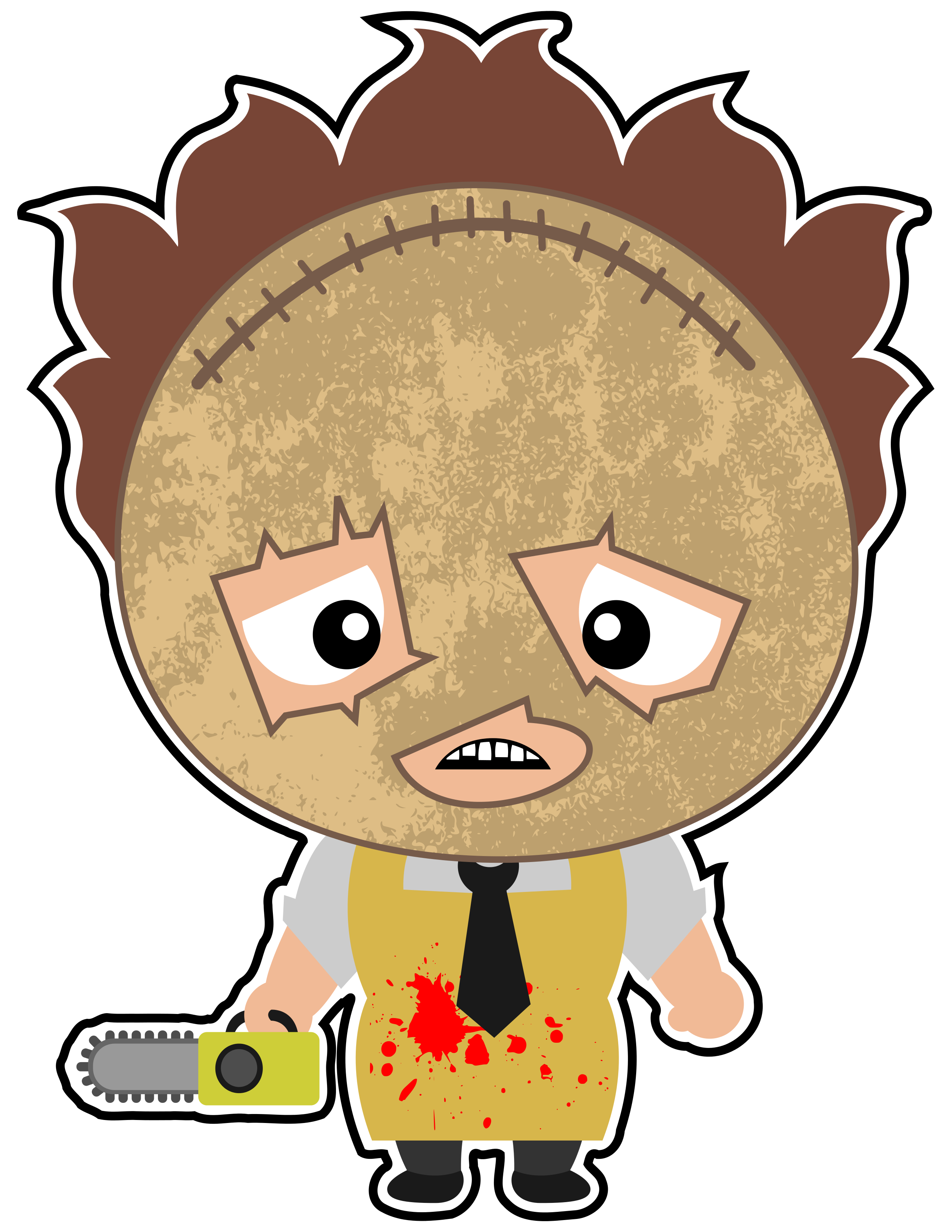2550x3300 Leatherface In All His Glory. One Of The Scariest Movies Of All