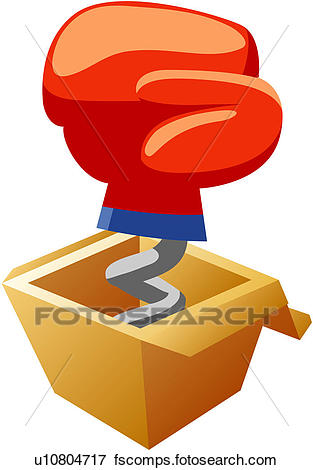 313x470 Clip Art Of Glove, Glove In The Box Toy, Toy, Box Toy, Fist