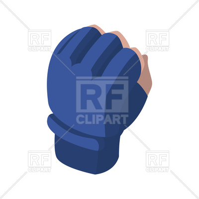 400x400 MMA glove Royalty Free Vector Clip Art Image