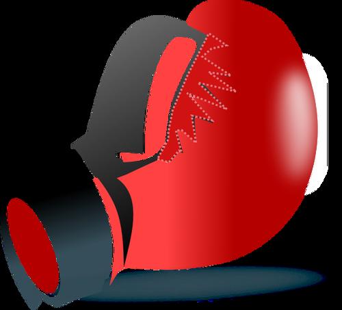 500x453 One leather boxing glove vector clip art Public domain vectors
