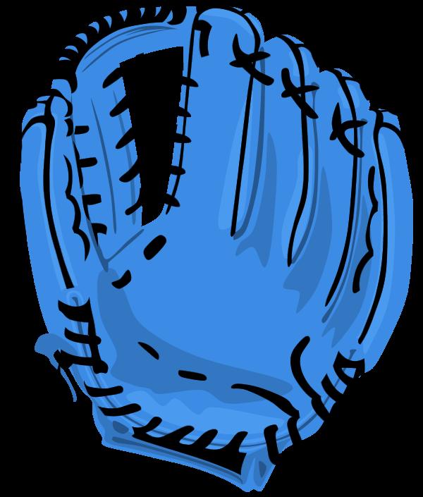 600x705 Baseball glove vector clip art