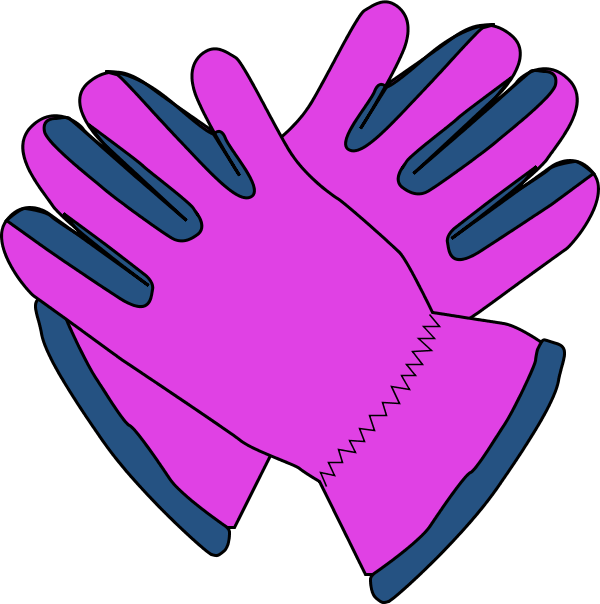 600x604 Gloves Clip Art