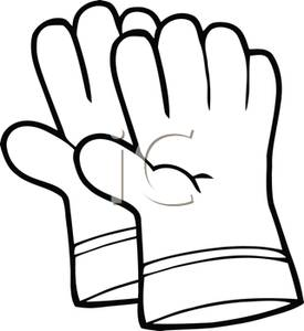 275x300 Image A Black And White Pair Of Gardening Gloves