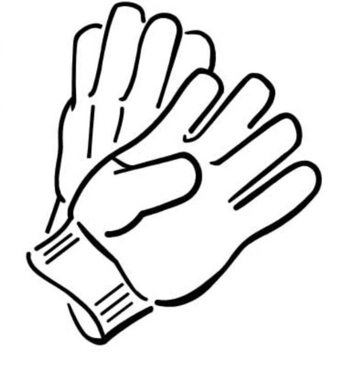 1156x1200 Winter Gloves Clipart