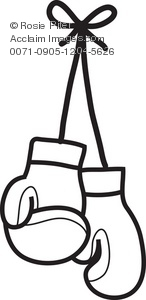 146x300 Clip Art Picture Of A Pair Of Boxing Gloves Hanging On Strings