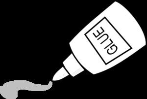 300x201 Glue Outline Clip Art