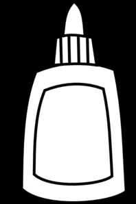 198x298 Blank Glue Bottle Clip Art